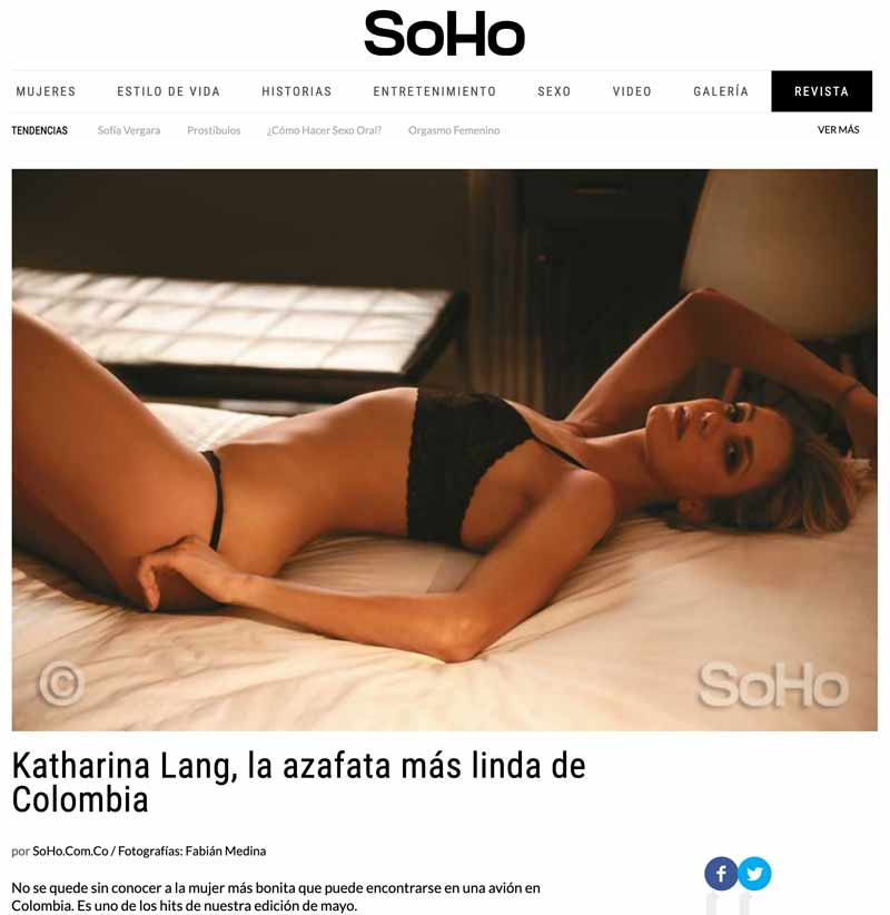 Fabian Medina - Fotografo Desnudos Bogota / Kathy Lang Soho